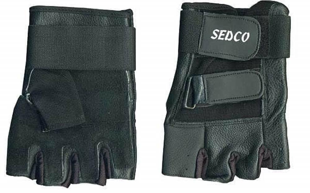 Sedco Rukavice fitness SEDCO kůže - Černá