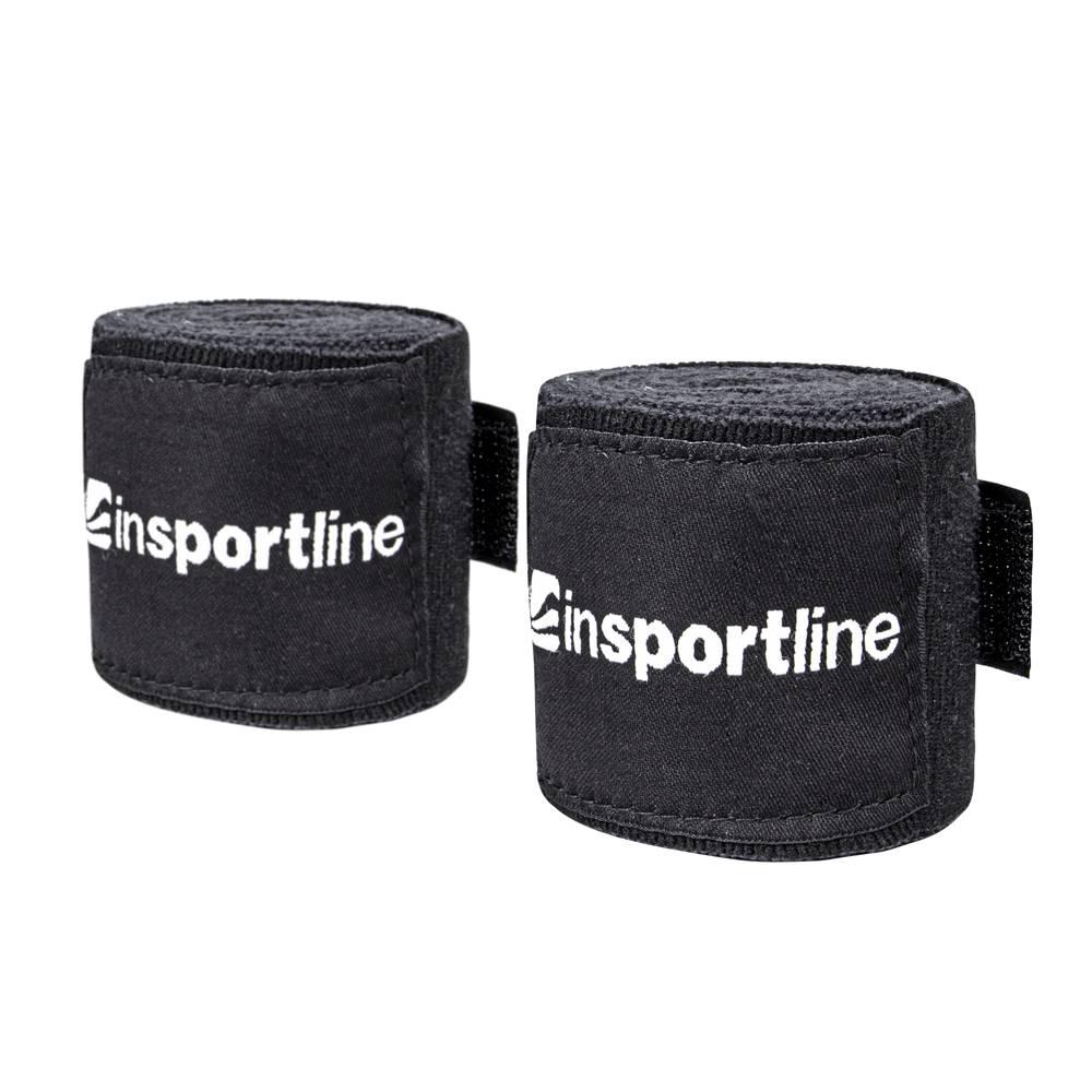 Insportline Boxerská bandáž inSPORTline Envolto 3,5 m čierna