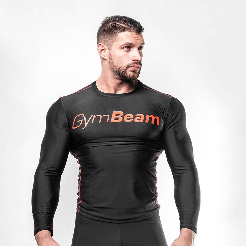 GymBeam GymBeam Kompresné tričko Black/Red  L