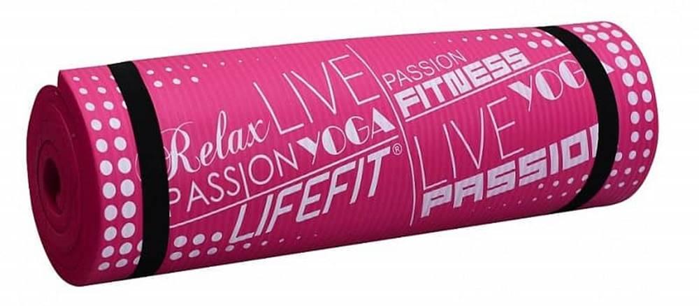 Lifefit Podložka LIFEFIT YOGA MAT EXKLUZIV PLUS, 180x58x1,5cm, světle růžová