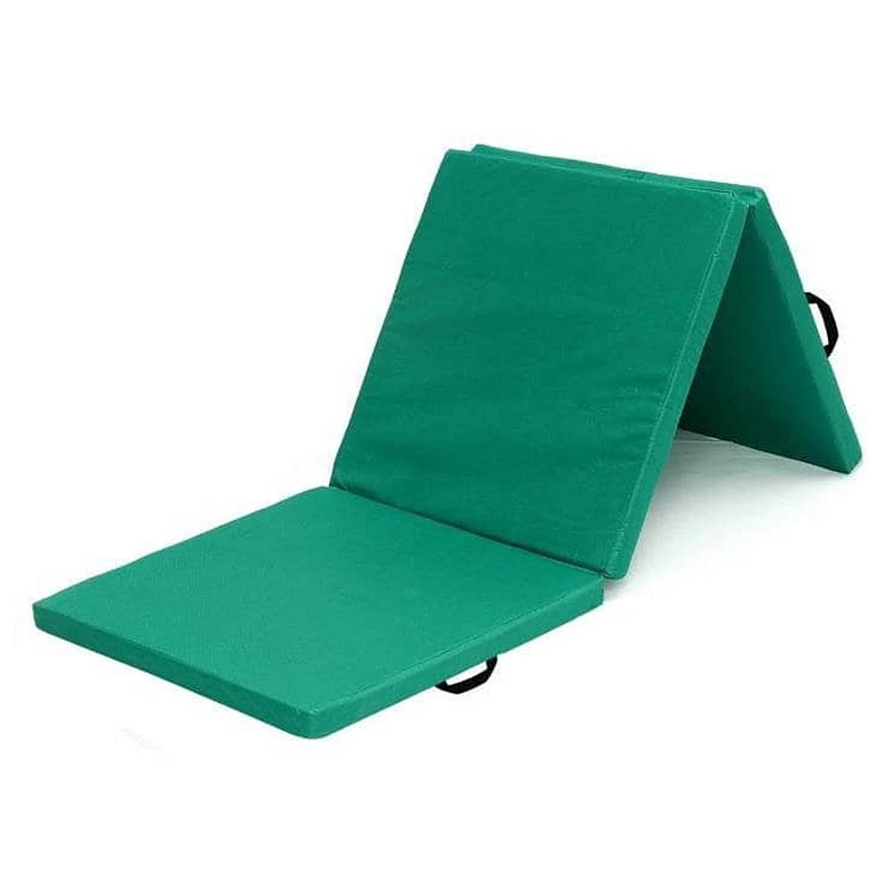 Sedco Žíněnka skládací třídílná SEDCO 183x60x4 cm - Zelená