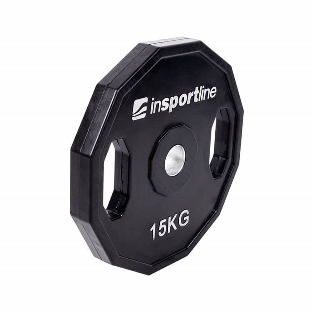 Insportline Pogumovaný kotúč inSPORTline Ruberton 15 kg
