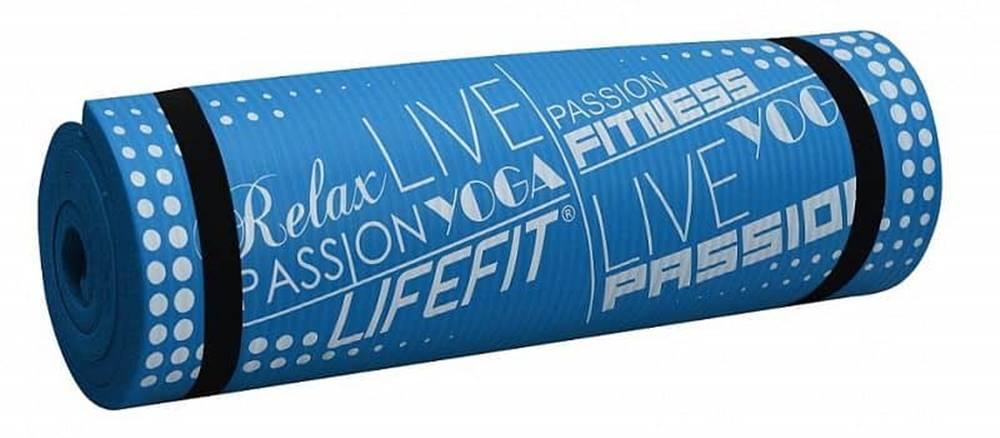 Lifefit Podložka LIFEFIT YOGA MAT EXKLUZIV PLUS, 180x58x1,5cm, modrá