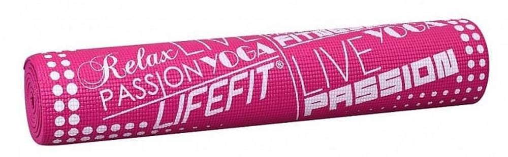 Lifefit Gymnastická podložka LIFEFIT SLIMFIT PLUS, 173x58x0,6cm, světle růžová