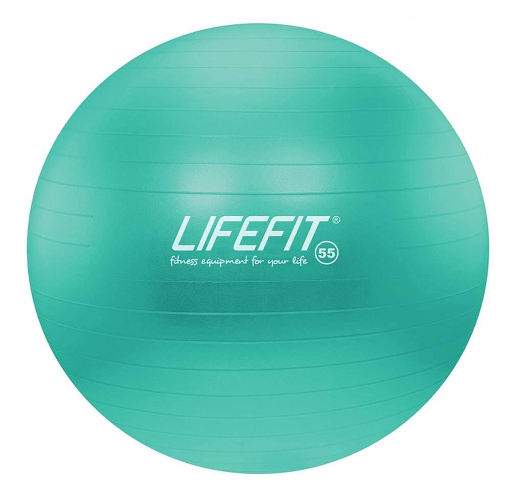 Lifefit Gymnastický míč LIFEFIT ANTI-BURST 55 cm, tyrkysový