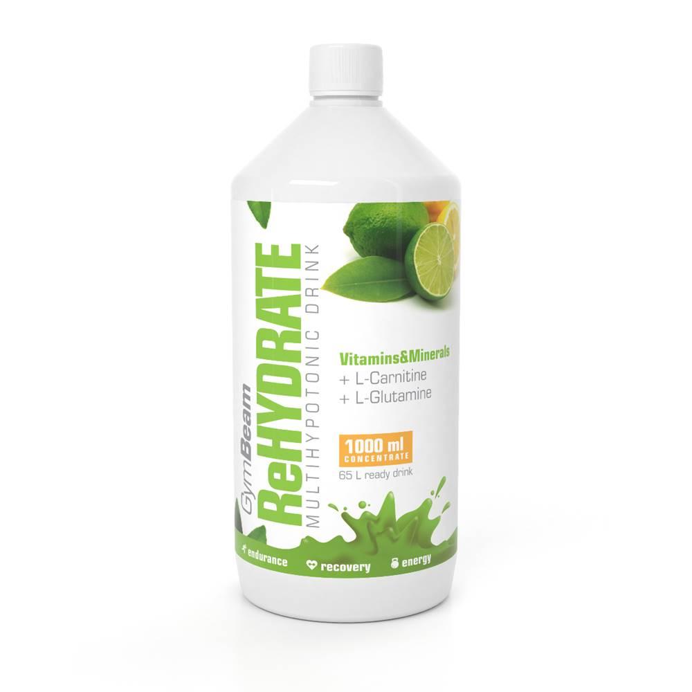 GymBeam GymBeam ReHydrate 1000 ml zelený čaj s limetkou