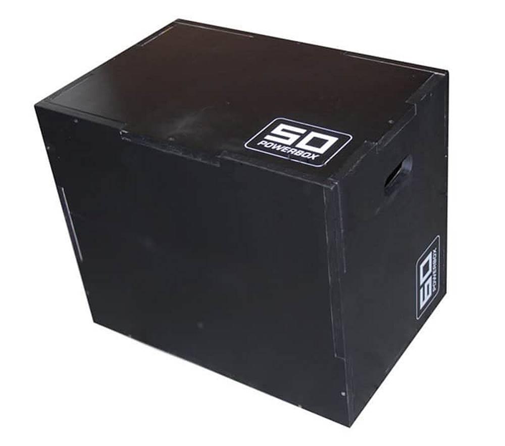 Sedco Plyometrická bedna dřevěná Sedco DARKWOOD 40/50/60 cm - Černá