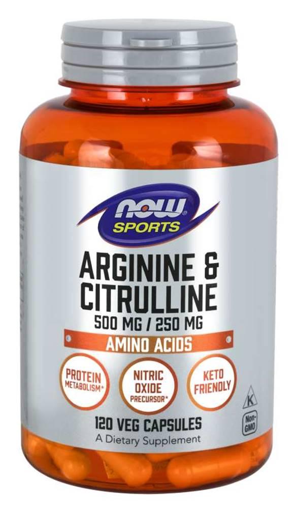 NOW Foods NOW Foods Arginine & Citrulline 120 kaps.