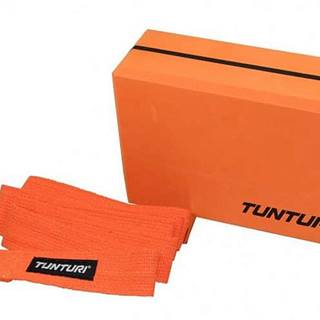 Jóga blok oranžová s páskem TUNTURI