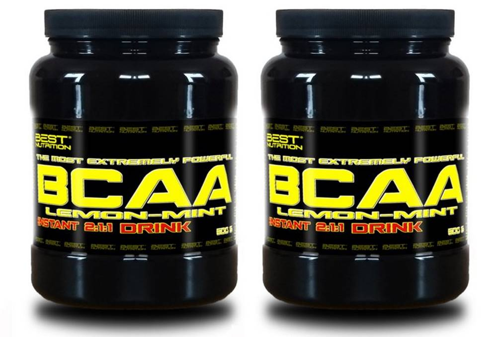 Best Nutrition 1+1 Zadarmo: BCAA Instant Drink od Best Nutrition 300 g + 300 g Citrón+Mint