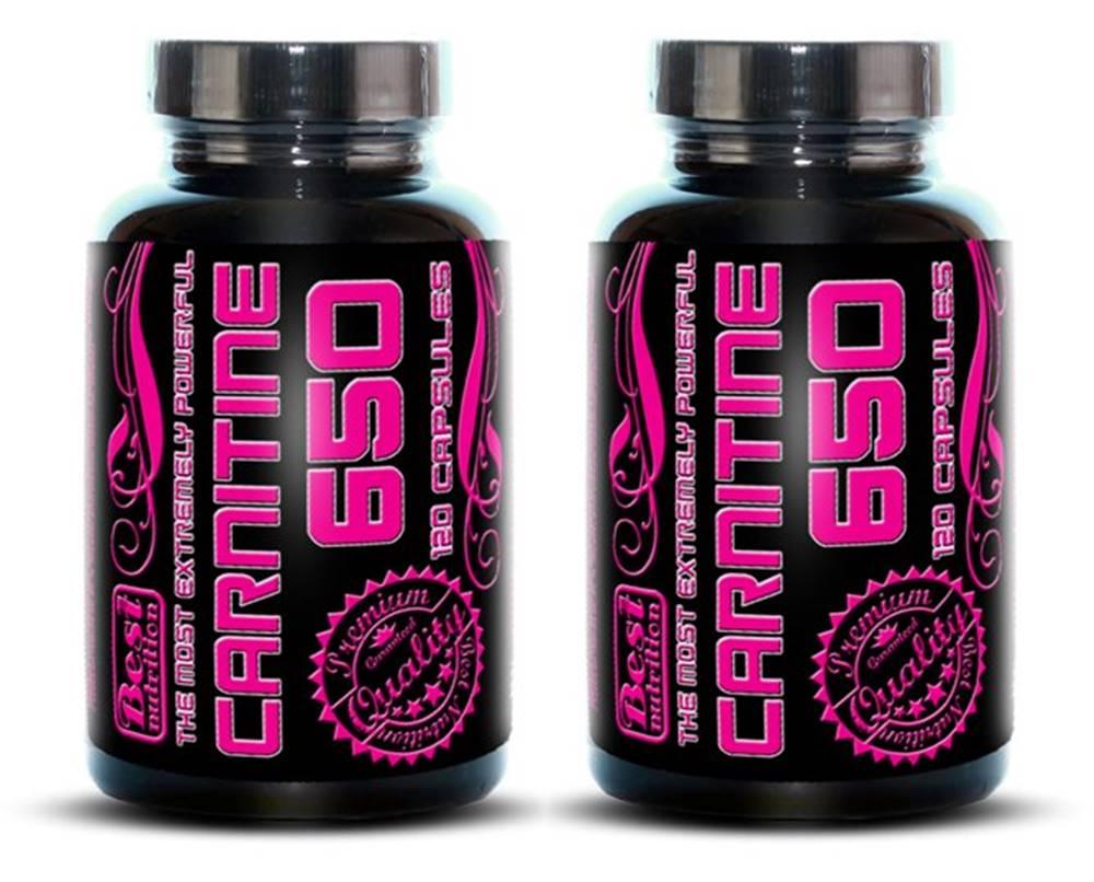 Best Nutrition 1+1 Zadarmo: Carnitine 650 od Best Nutrition 120 kaps. +  120 kaps.