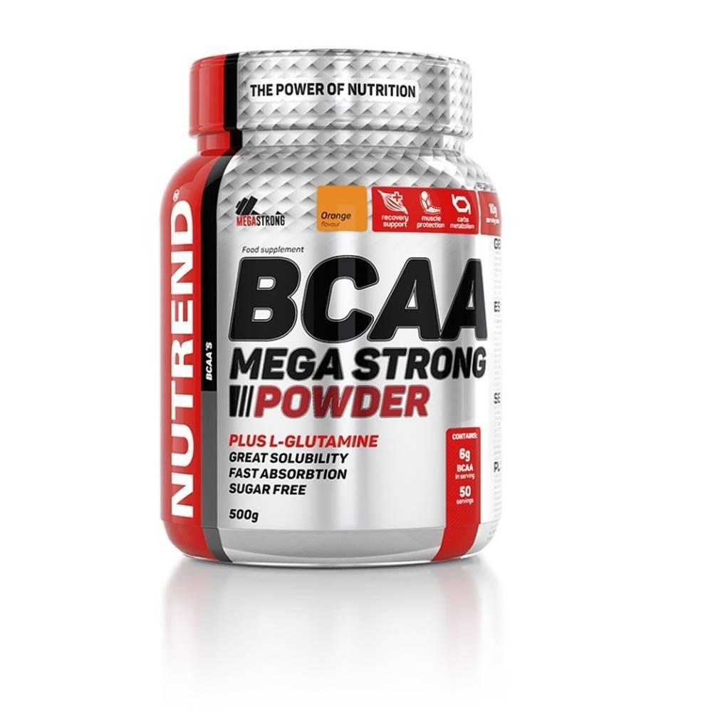 Nutrend Práškový koncentrát Nutrend BCAA Mega Strong Powder 500 g pomaranč