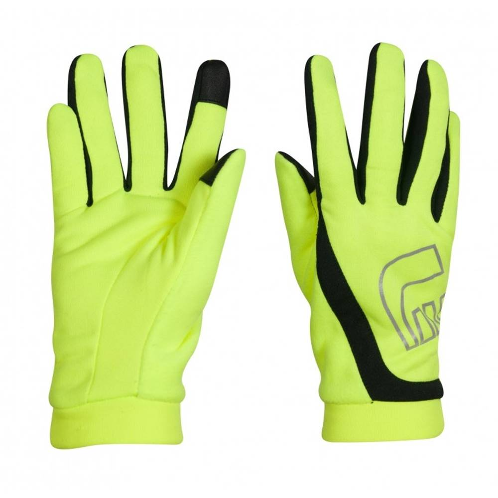 Newline Bežecké rukavice Newline Thermal Gloves Visio neon - XS