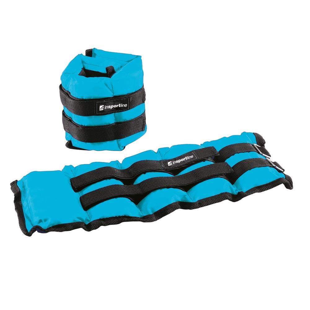 Insportline Nastaviteľné závažie na členok/zápästie inSPORTline BlueWeight 2x2 kg