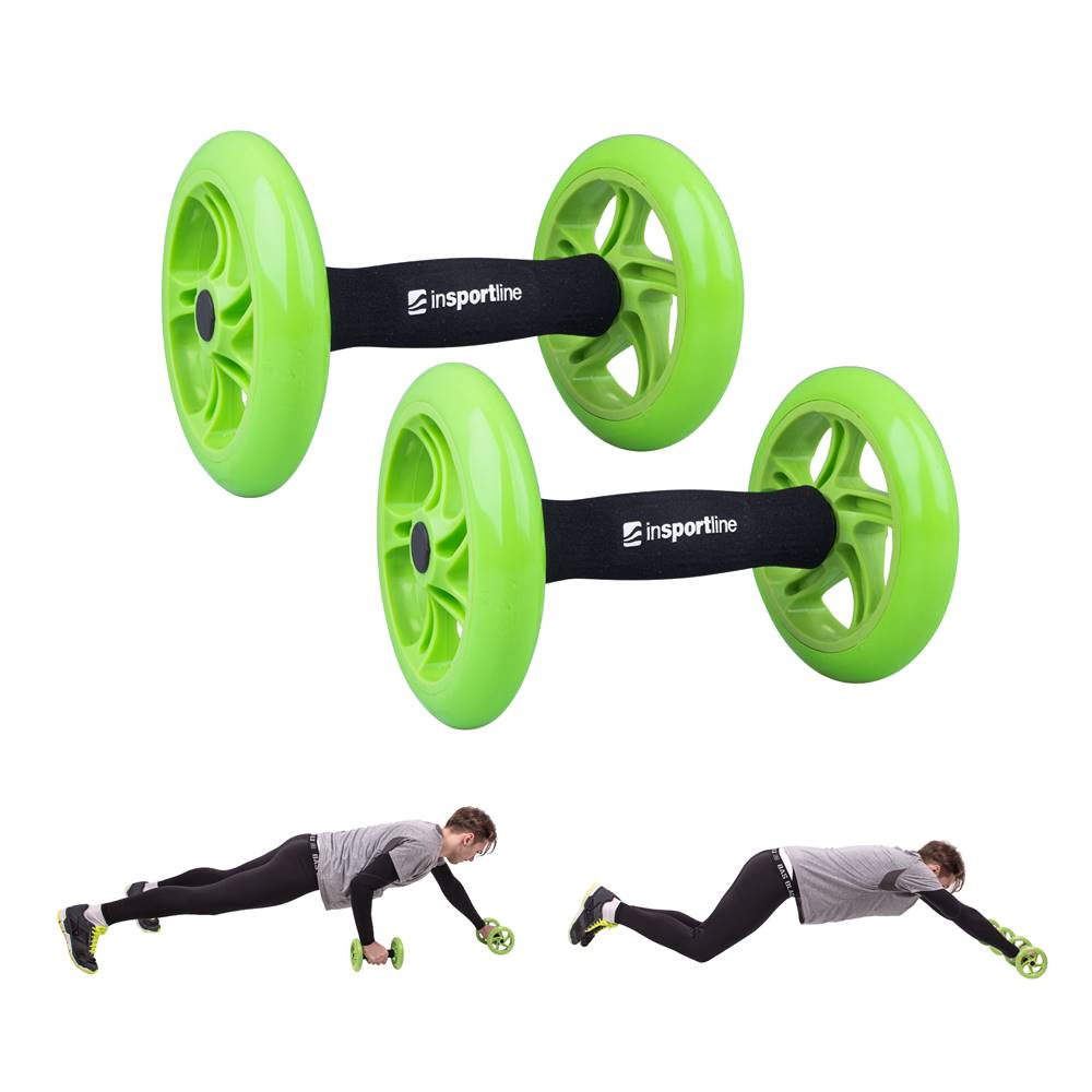 Insportline Posilňovacie koliesko inSPORTline AB Roller Double