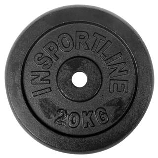 Liatinové závažie inSPORTline Castblack 20 kg