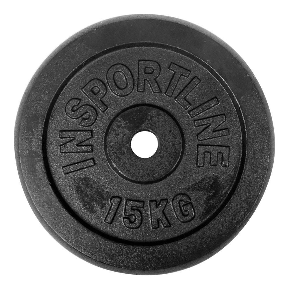Insportline Liatinové závažie inSPORTline Castblack 15 kg