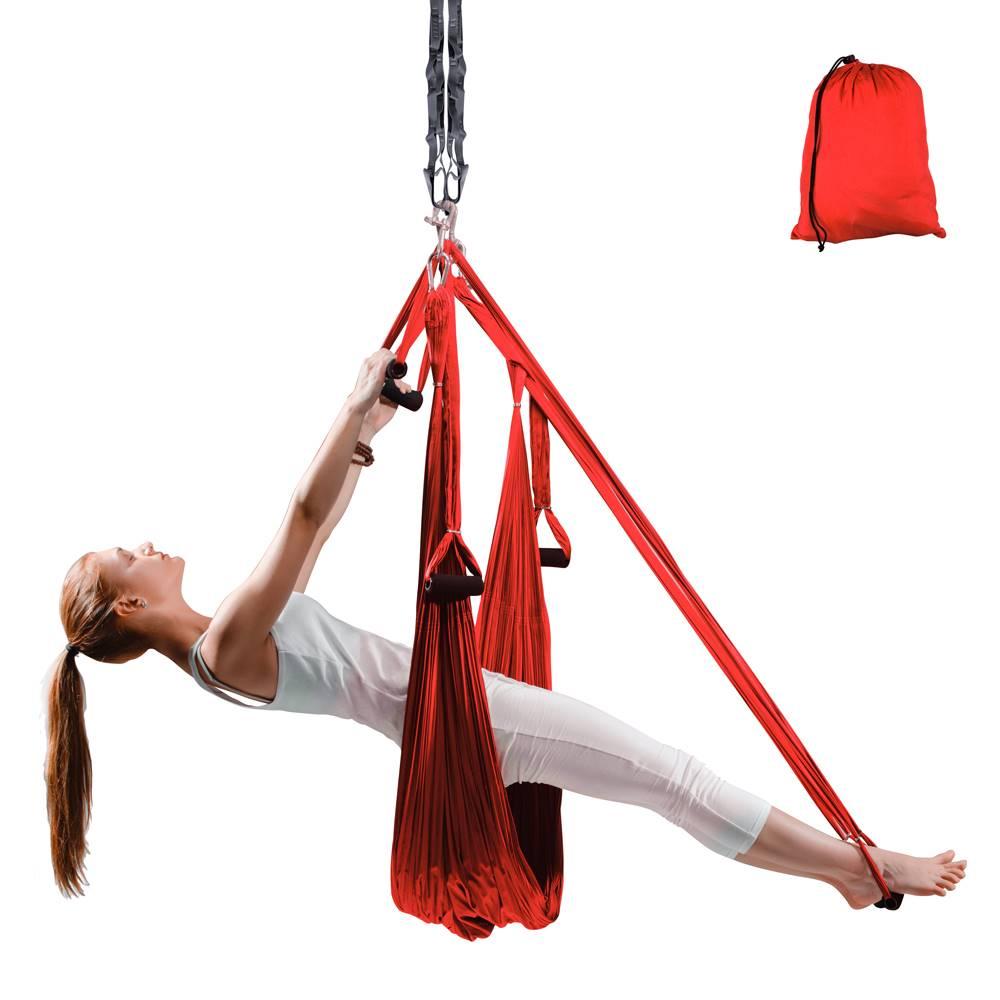 Insportline Popruhy na aero jogu inSPORTline Hemmok červená