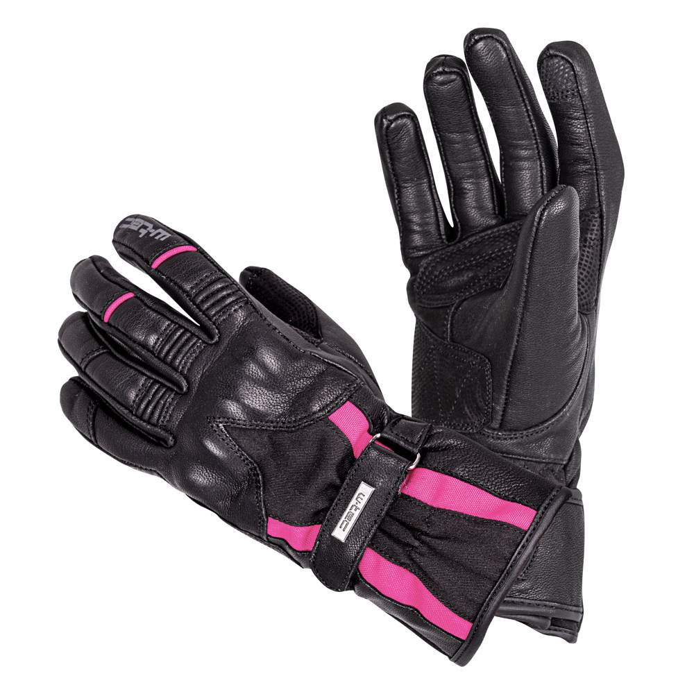 W-Tec Dámske kožené moto rukavice W-TEC Pocahonta čierno-ružová - XS